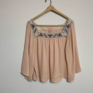 Flying Tomato Embroidered Blouse Size XL